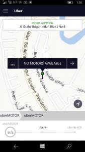 Geser ke kiri untuk layangan UberMotor