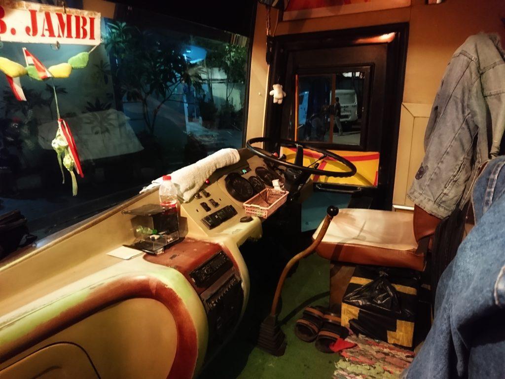 Cockpit Sopir Bus