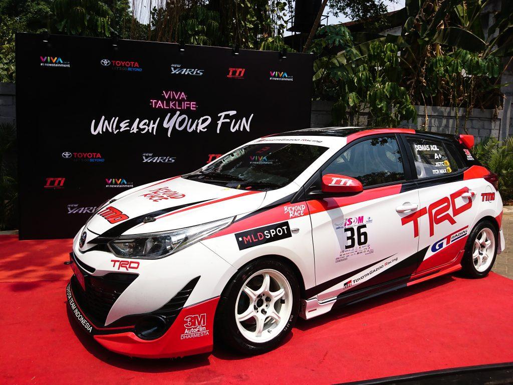 Mobil andalan Toyota Team Indonesia di arena balap